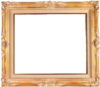 empty-golden-frame