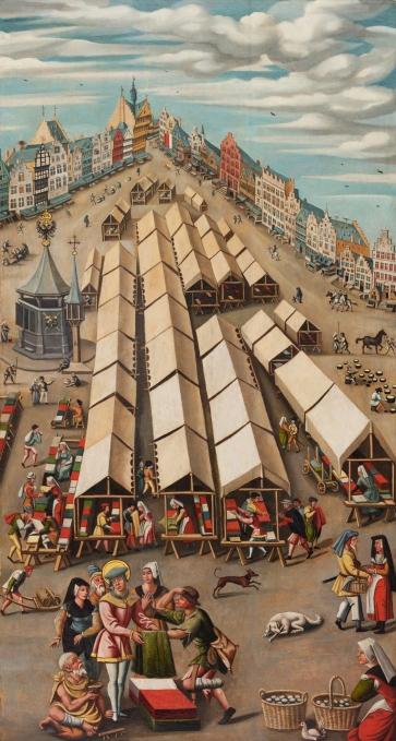 De_lakenmarkt_te_'s-Hertogenbosch_circa_1530_-_Noordbrabants_Museum